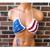 Criss Cross American Flag Bikini Top, Crochet American Flag Top by Vikni Designs