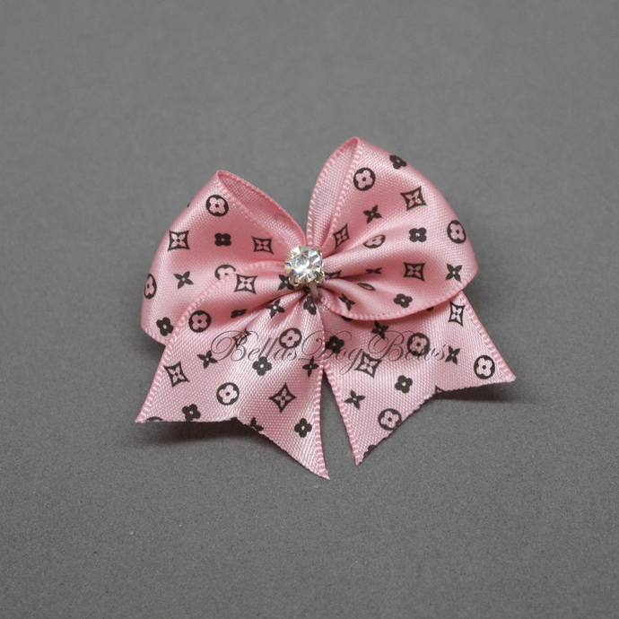 Dog Bow (Pink - Soft Casual Style)