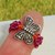 Butterfly Ring Fuchsia & Orange Size 7