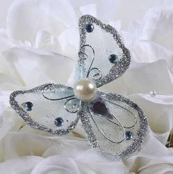 Embellishment Nylon Mesh Fairy Angels Pixie Christmas - 5pcs White, Blue