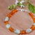 Aquamarine and amber bracelet