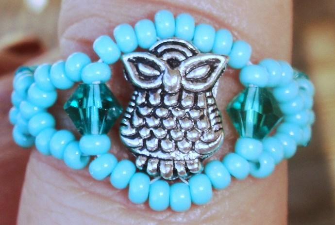 Owl Ring Turquoise & Ring Size 10