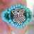 Owl Ring Turquoise & Teal Size 6