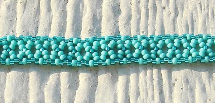 Teal & Turquoise Beaded Bracelet