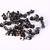 50 Earring back stopper gunmetal black - earring stoppers earnuts 5x3mm (1390)