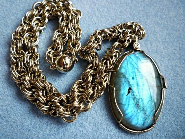 Labradorite pendant necklace wire eileens jewelry boutique labradorite pendant necklace wire wrapped labradorite pendant necklace wire mozeypictures Choice Image