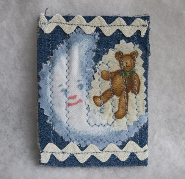 Bedtime Story fabric art ACEO