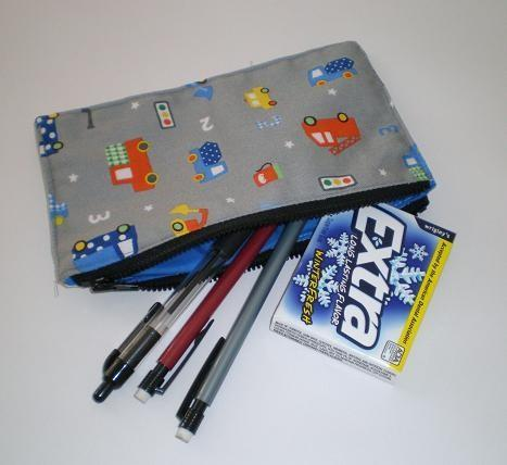 Pouch with Cars and Trucks Print