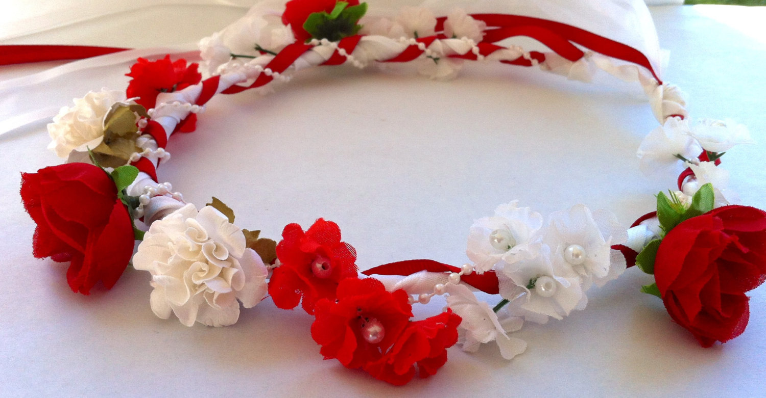 Custom Floral Ribbon Crown Bride Bridal By Jlo Specialties On Zibbet