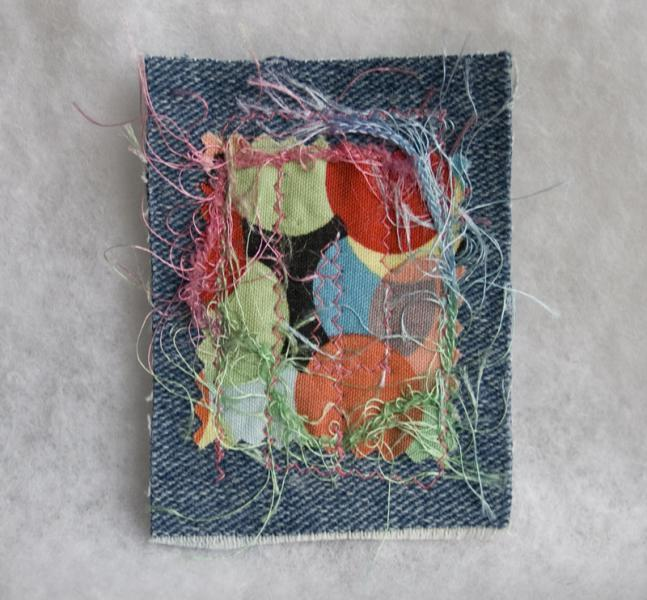 Let's Party fabric art ACEO