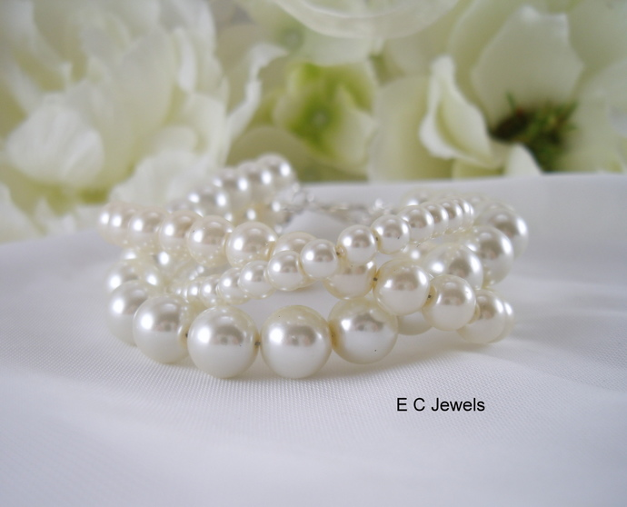 Trio of Pearls Bracelet