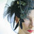 Black fascinator black wedding fascinator feather fascinator bridal headpiece