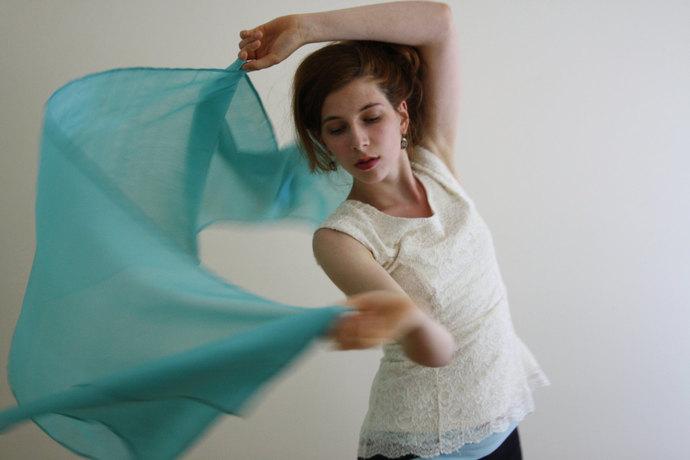 Blue Scarf Sheer peace Silk scarf Aqua evening shawl blue sheer evening wrap