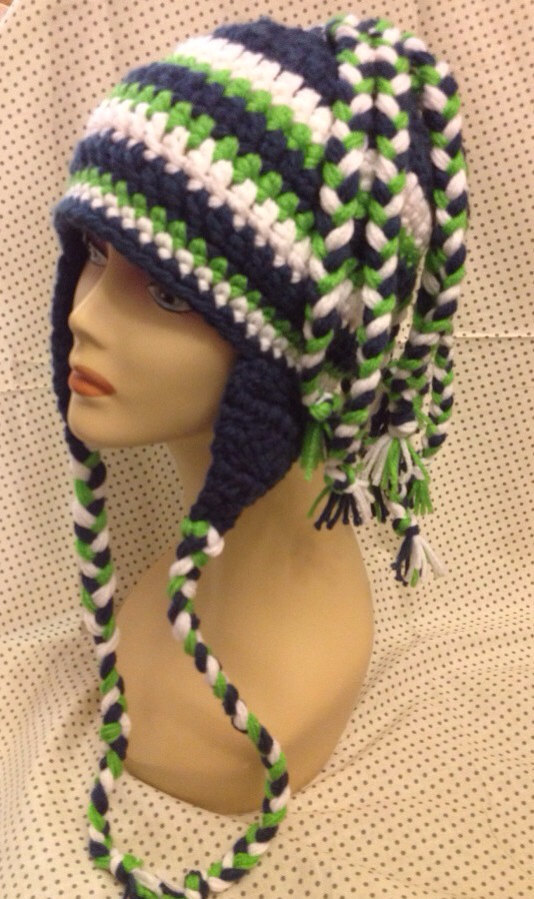 Crochet Seahawks Hat by TheWildPrairieRose on Zibbet 847f3549dd1