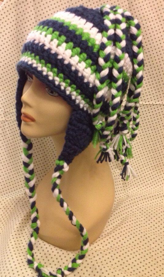 Crochet Seahawks Hat By Thewildprairierose On Zibbet