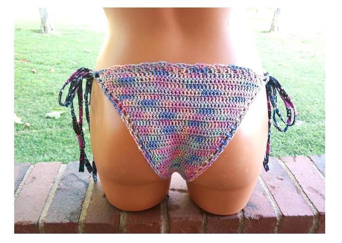 Premier Cheeky Crochet Bikini, Crochet Brazilian Bikini by Vikni Designs