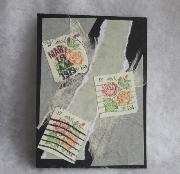 A rose is a rose is a rose collage ACEO