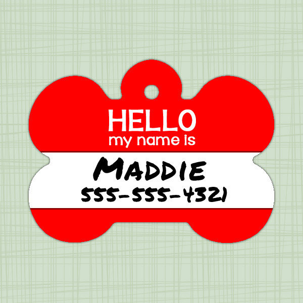 Custom Pet ID Tag, Personalized Dog Tag, Identification name tag, Cat Tag, Lunch