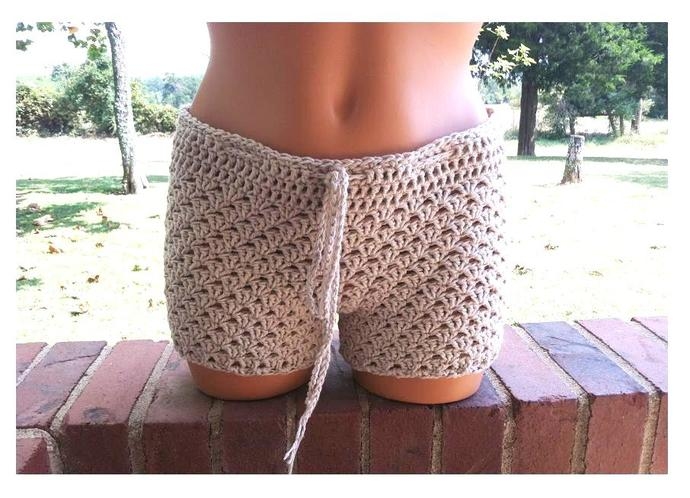 Crochet Shorts, Women Boy Shorts by Vikni