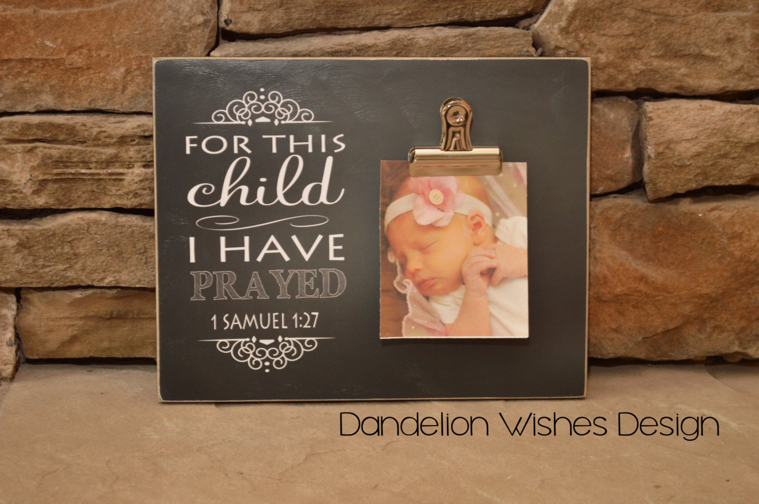 For This Child I Have Prayed 8x10 Dandelion Wishes Design