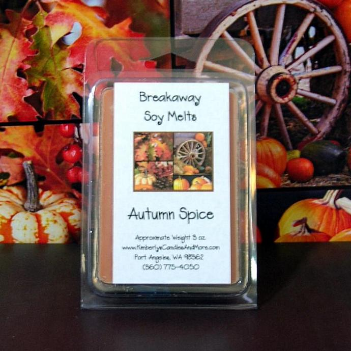 Autumn Spice Breakaway Clamshell Soy Wax Tart Melts