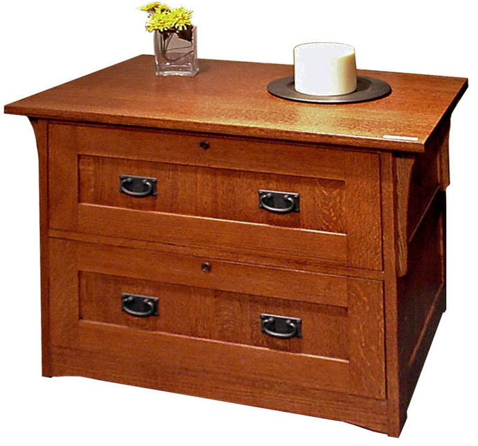 Mission Style  Drawer Lateral File Cabinet