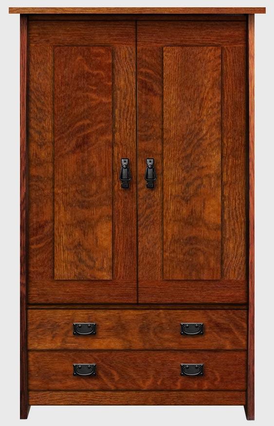 Ordinaire Stealth * Arts U0026 Crafts Mission Style Bedroom Wardrobe Armoire