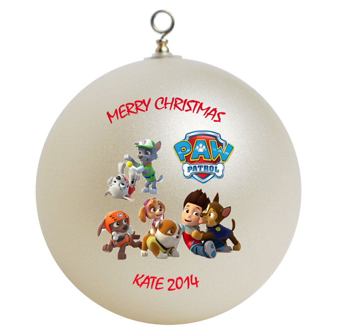 paw patrol personalized christmas ornament