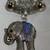 Scarf Jewelry Tibetan Silver Metal Sapphire Blue Rhinestone Elephant Scarf