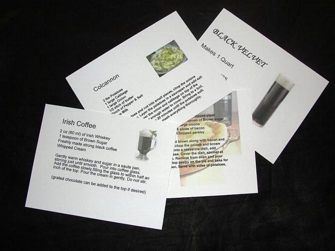 Recipe Cards of Old Irish Favorites