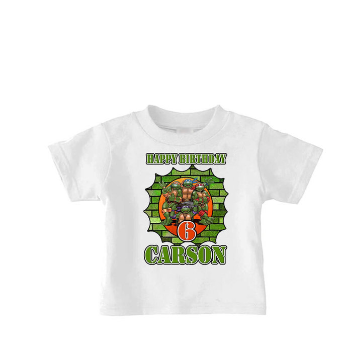 Ninja Turtle Birthday Shirt Boys Personalized