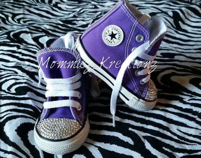 db9c06b8702c00 Purple Swarovski Converse