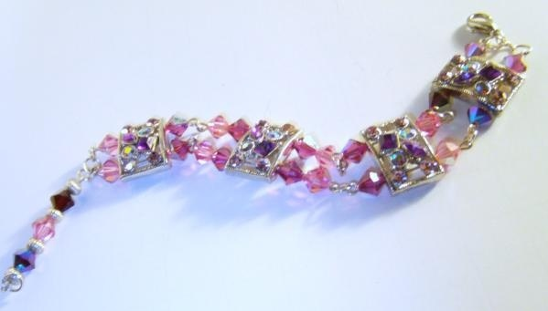 Pink Jubilee Crystal Bracelet