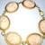 Gothic Lolita Cameo Link Bracelet - Peach