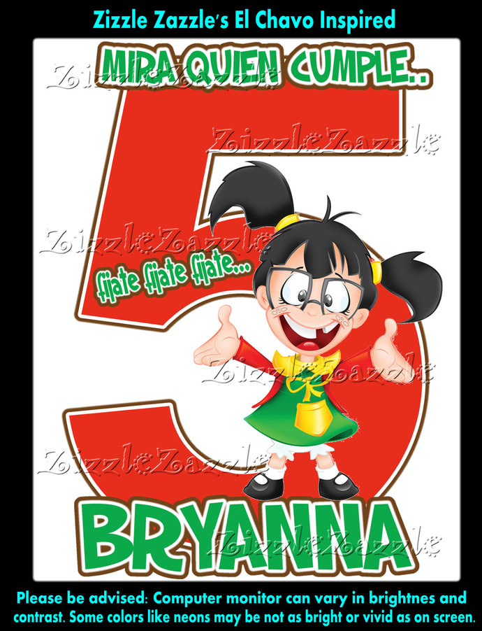 El Chavo La Chilindrina Inspired Birthday Party T Shirt Iron On Transfer OR