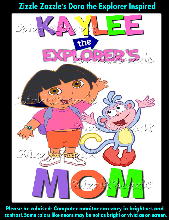 Dora The Explorer Mom Of Birthday Girl Party T Shirt Iron On Transfer OR