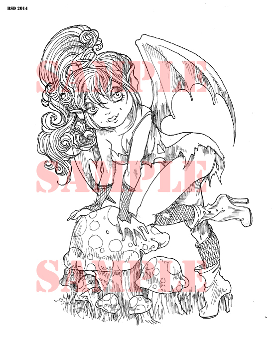 Batty Bettina night fairy Digi stamp new for 2015