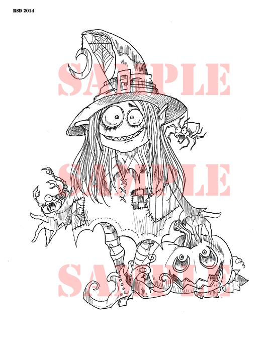 MAGYK Moana Witch digi stamp