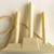 Vintage Christmas- 3 Light Candolier- Molder Ivory Plastic