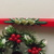 Two Plastic Matching Vintage Christmas Candle holders with Holly Pine includes 2
