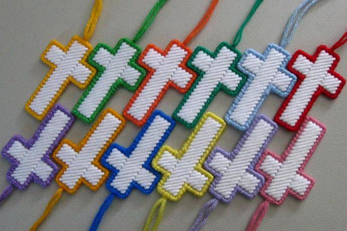 Colorful Christmas Easter Cross Decoration Bookmark