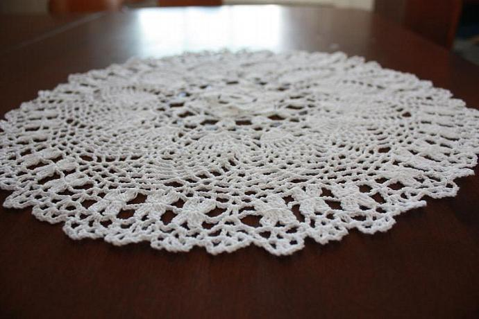 Crocheted Doily - 15 Inch