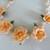Orange Cold Porcelain Floral Necklace