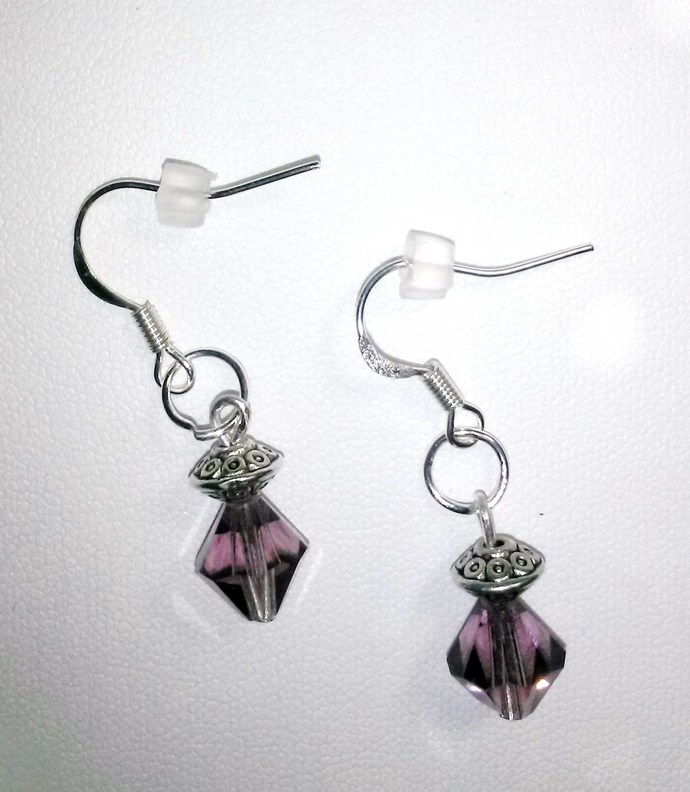 Amethyst Swarovski Crystal Earrings