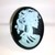 Large Blue Lady Death / Gothic Lolita Cameo Ring