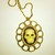Skull Cameo in Ornate Gold Pendant Setting