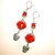 Sugar Skull Big Red Bead Earrings