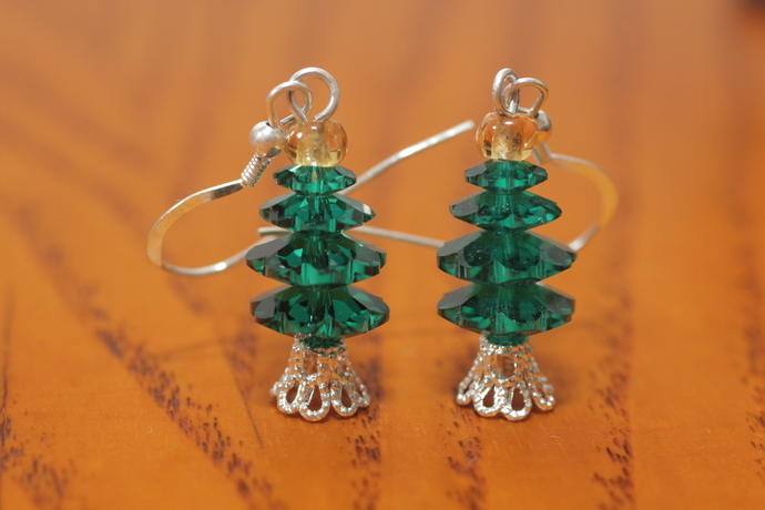 Swarovski crystal tree earrings