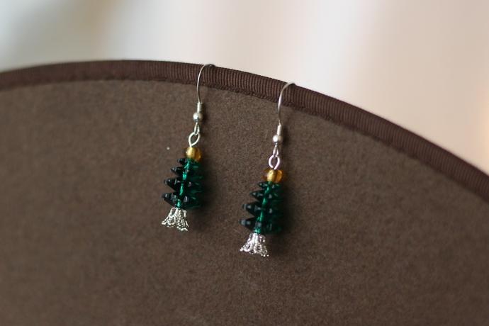 Swarovski crystal tree earrings