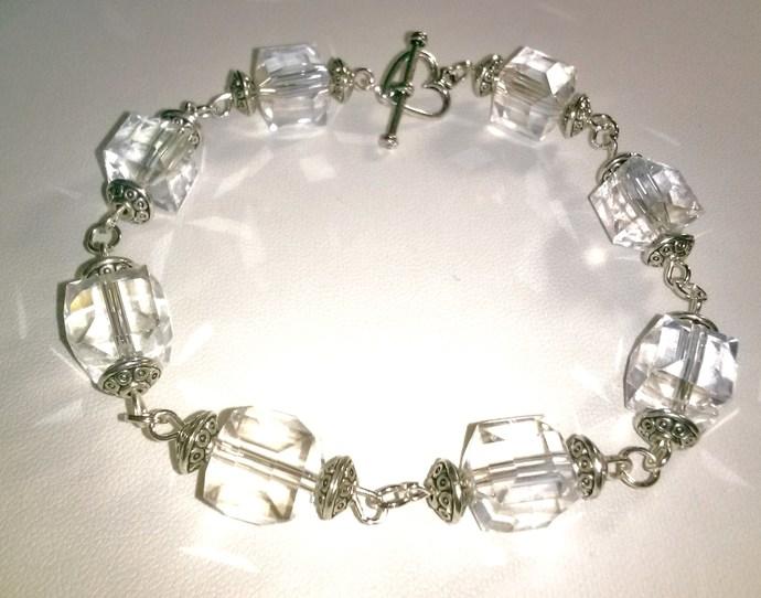 Chunky Crystal Cube Bracelet
